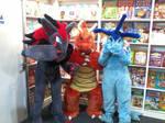 Pokemon fursuit in the book fair