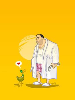 Tony Soprano and friend