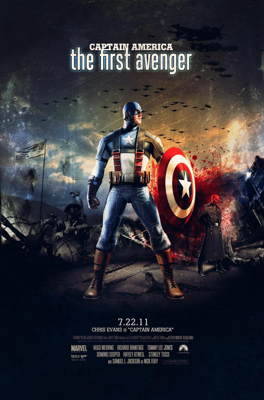Captain America Movie Poster by ADN-z