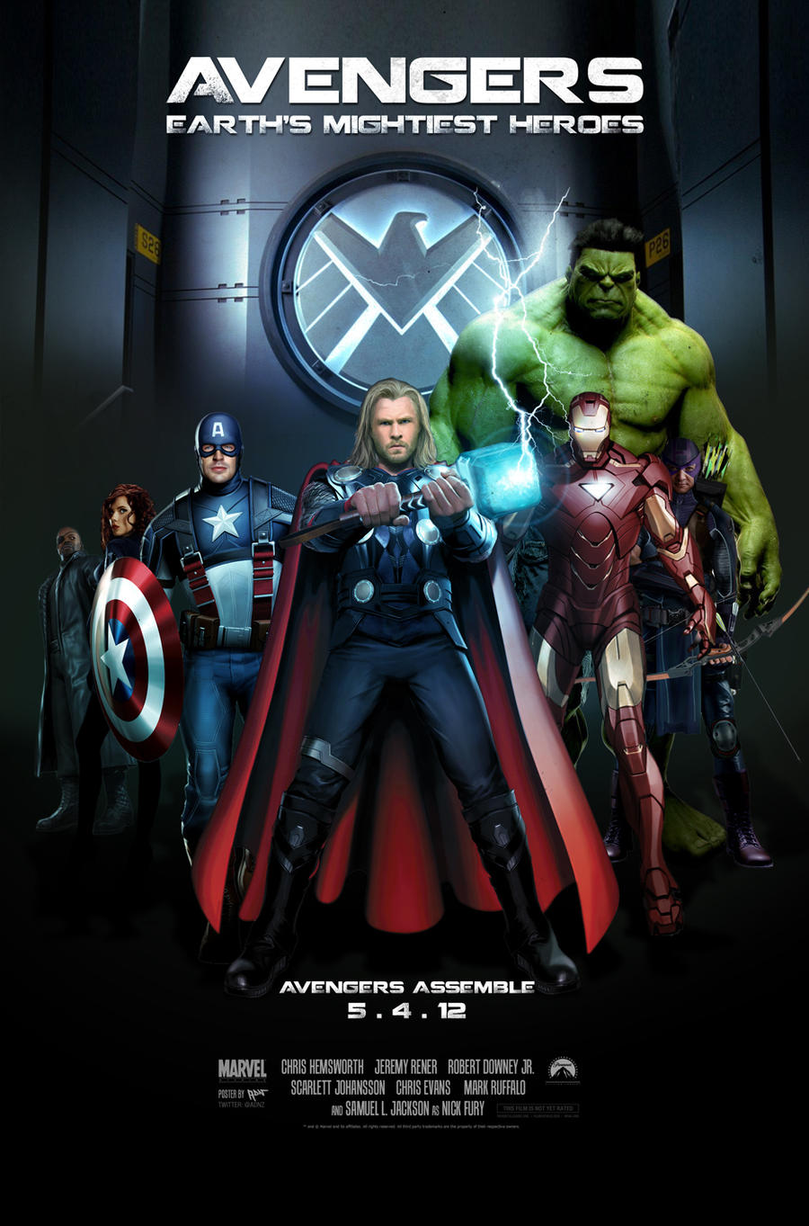 Avengers Movie Poster by ADN-z