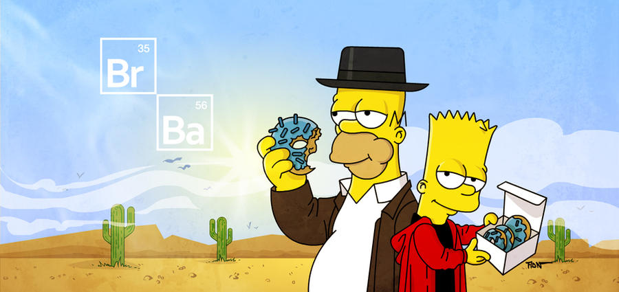 The Simpsons x Breaking Bad by ADN-z