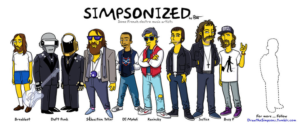 Simpsonized french electro by ADN-z
