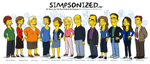 The faces behind The Simpsons by ADN-z