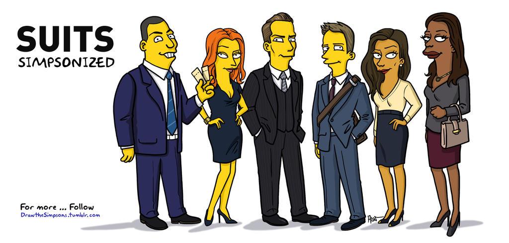 Suits - Simpsonized by ADN-z