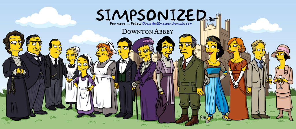 Downton Abbey Simpsonized by ADN-z
