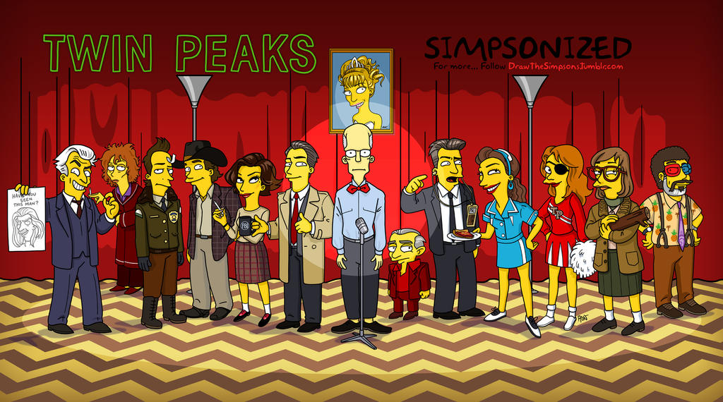 Twin Peaks Simpsonized by ADN-z