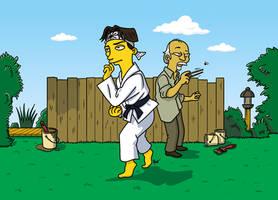 Karate Kid Simpsonized by ADN-z