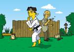 Karate Kid Simpsonized