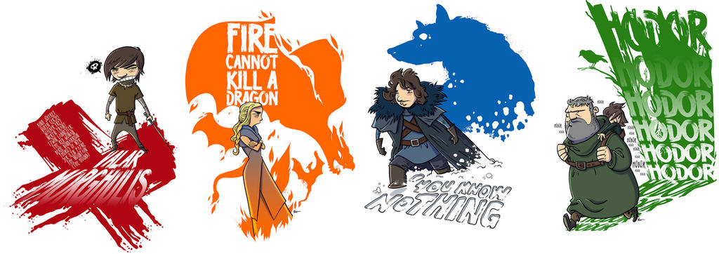 Game Of Thrones characters series by ADN-z