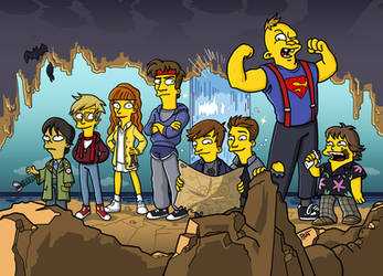 The Goonies Simpsonized by ADN-z