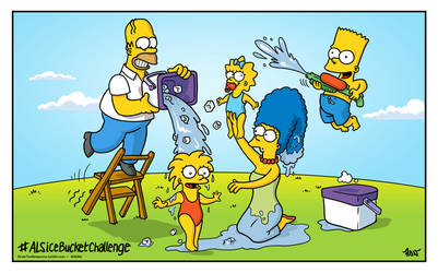 ALSIceBucketChallenge with The Simpsons