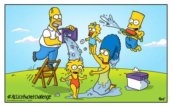 ALSIceBucketChallenge with The Simpsons