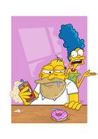 Homer and Marge by ADN-z