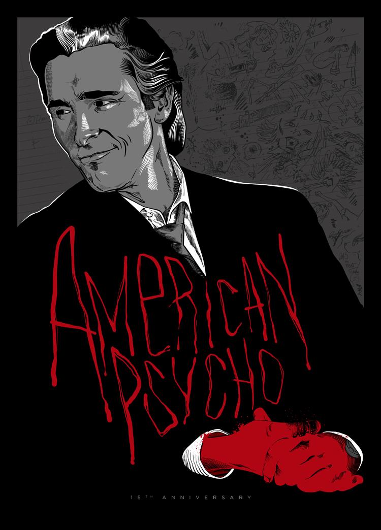 American Psycho 15th Anniversary poster by ADN-z