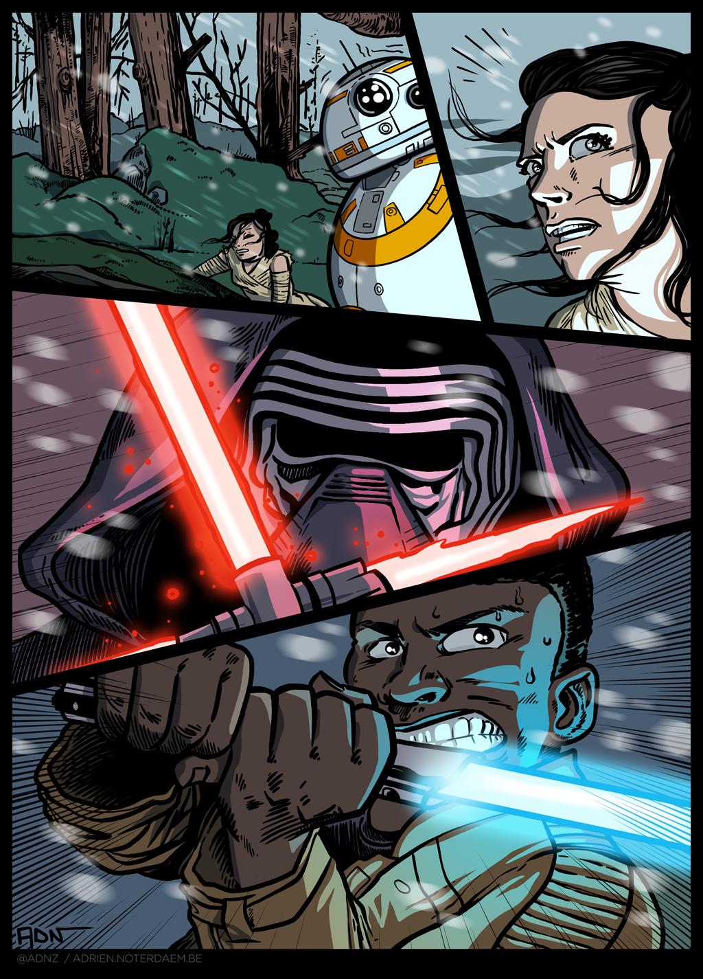 Star Wars - comics page by ADN-z