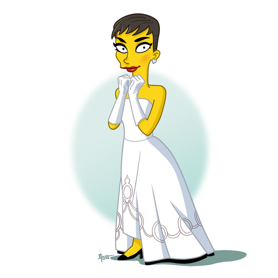 Audrey Hepburn Simpsonized by ADN-z
