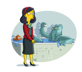 The Shape Of Water Simpsonized