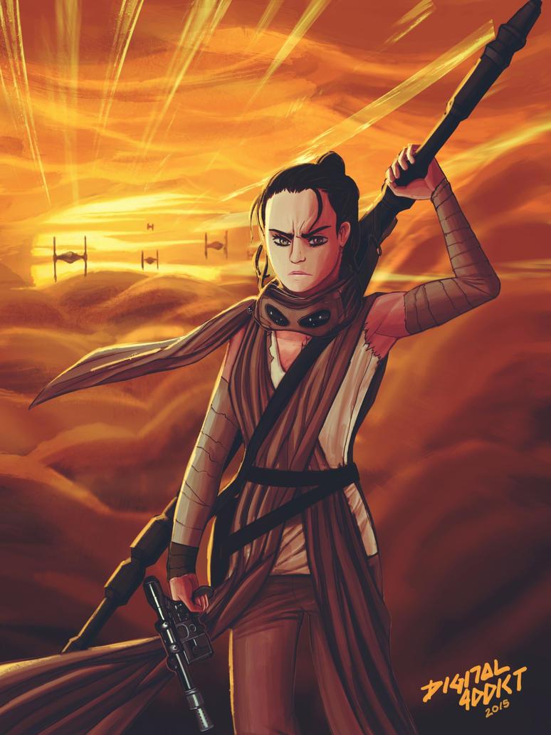 Star Wars - Rey by digital-addict