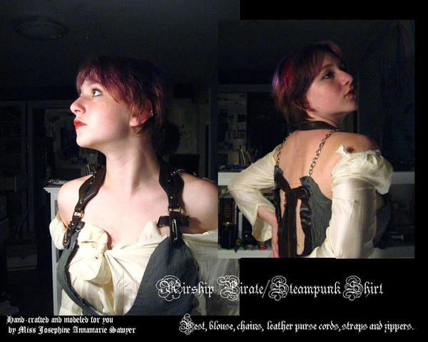 Airship Pirate, Steampunk Top by dreamylittlethings