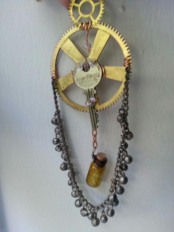 Steampunk Inspired Dreamcatcher 2 by dreamylittlethings