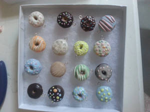 Assorted Miniature Donut Charms