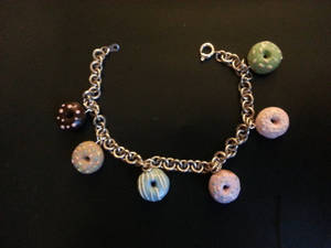 Miniature Donut Charm Bracelet