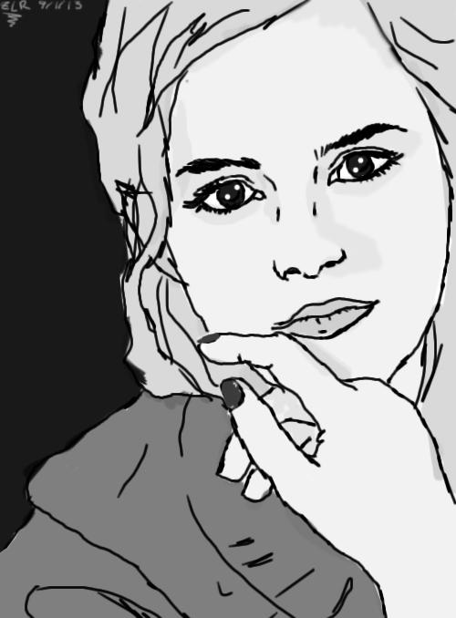 Emma Watson - Grayscale by Wishiwasahobbit