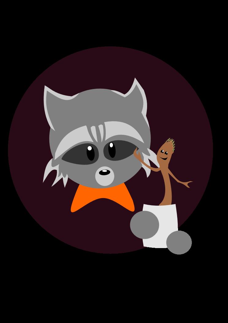 Groot and Rocket Raccoon by Wishiwasahobbit
