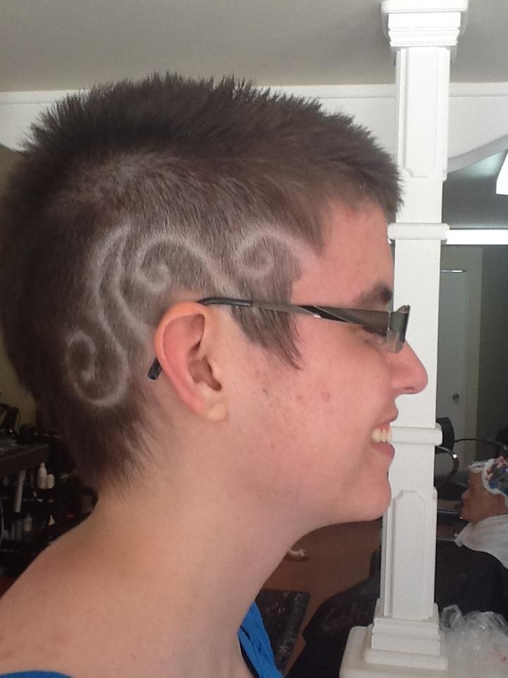 Hair tattoo 1: Waves by Sylvano-DRAGON on DeviantArt