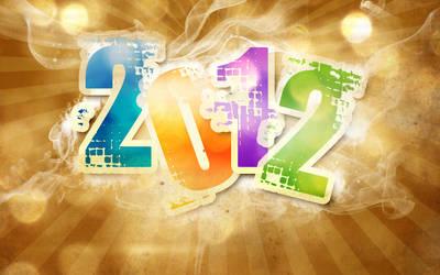 Happy New Year 2012 Wallpaper Design