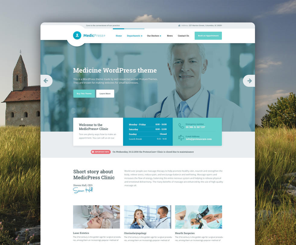 Medicpress - The fastest medical WordPress theme by spaka