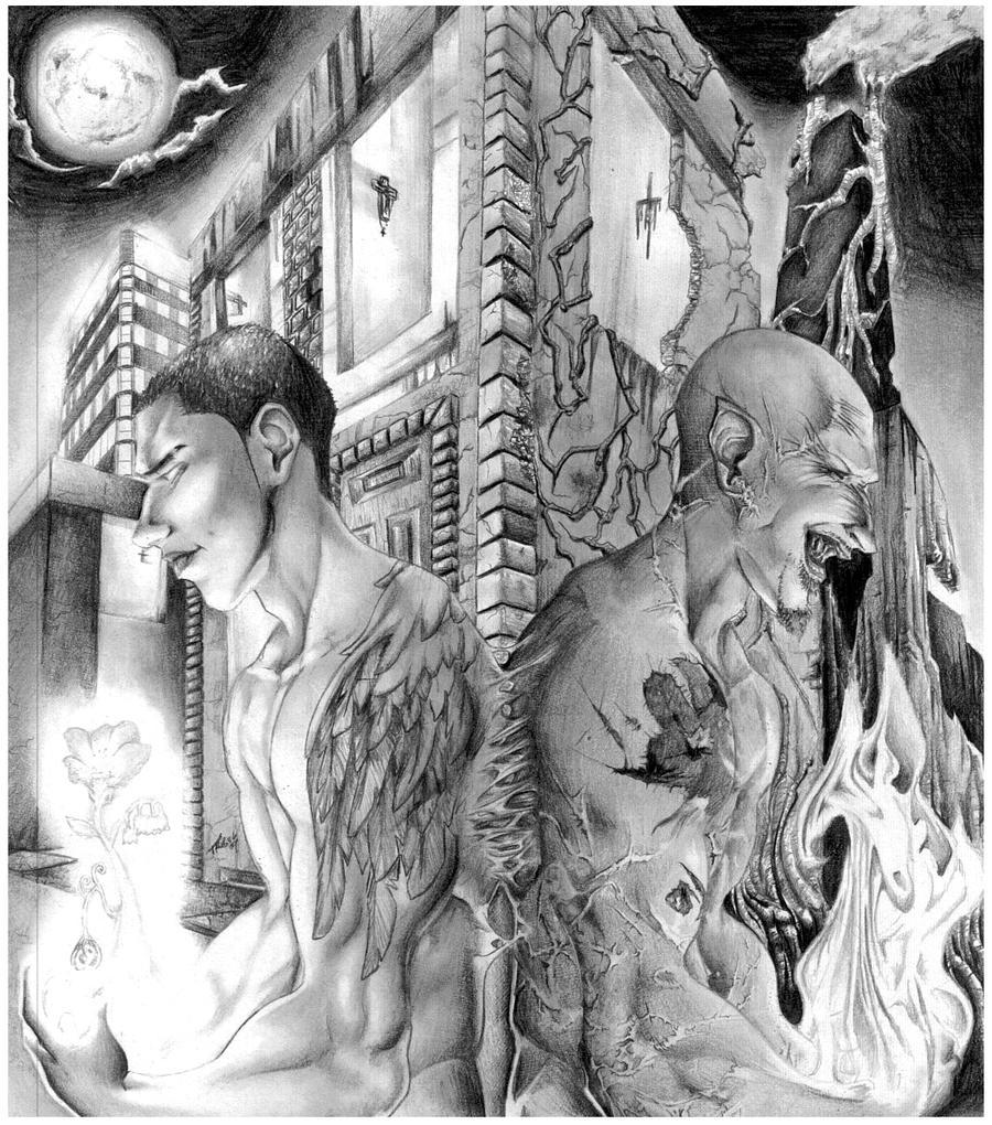 Good vs Evil Art Drawing