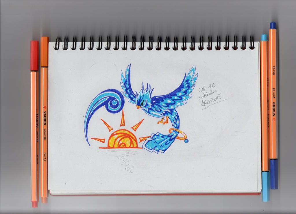 Inktober 6 Zaphir by Yueyun