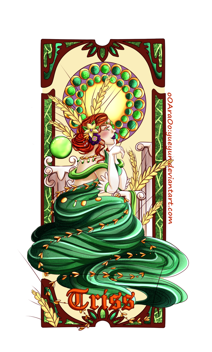 Triss merigold Art Nouveau by Yueyun