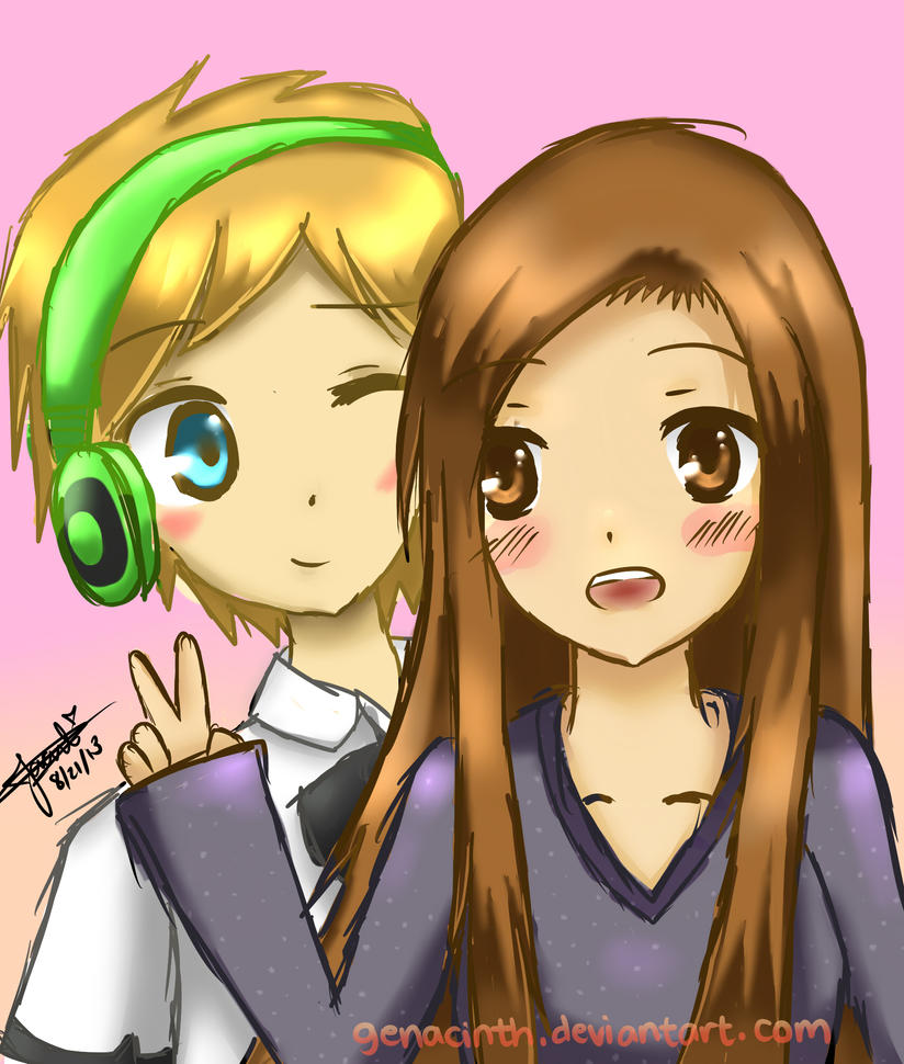 Pewdiepie and Cutiepie by genacinth on DeviantArt