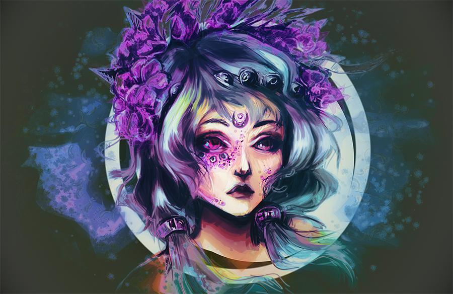 Moon girl by mirabillisfuture