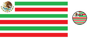 Mexican Flag as USA Style Flag and its countryball