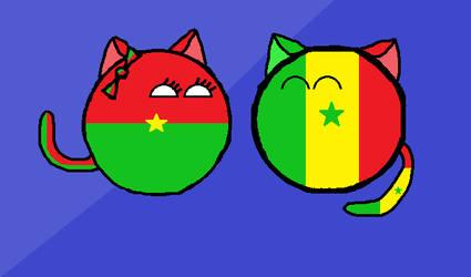 Senegalball and Burkina Fasoball by Gmo12