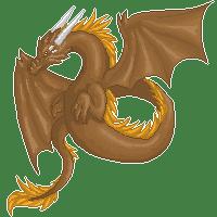 Sand dragon (200x200 pixelart) by DodoIcons