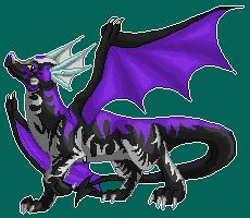 Purple flames (200x200 pixelart) by DodoIcons