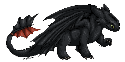 Toothless pixel 'sticker' by DodoIcons