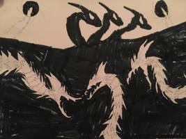 Godzillas Arch Nemesis: King Ghidorah by Needyrodragon15