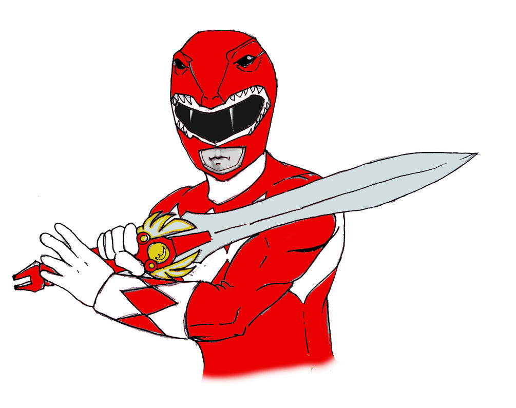It's just a photo of Slobbery Red Power Ranger Clipart