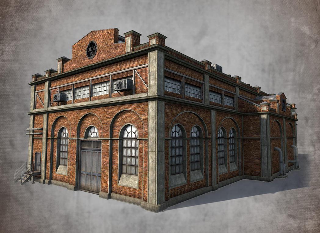 Low poly 3d model of old factory by sergey ryzhkov on for Deviantart 3d models