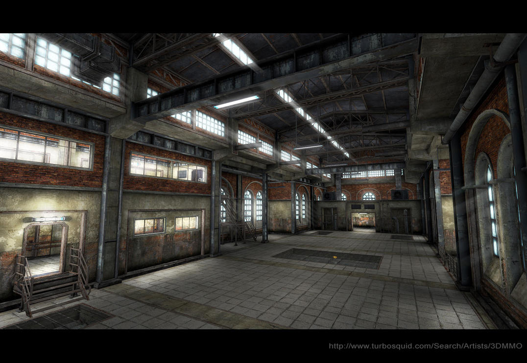 Old Factory Interior Low Poly By Sergey Ryzhkov On Deviantart