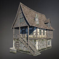 Medieval House (Low Poly) by Sergey-Ryzhkov