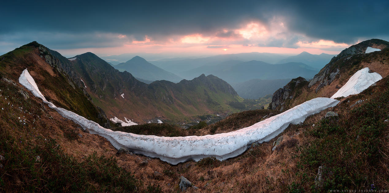 Sunrise in Marmorosy. Carpathians, Ukraine by Sergey-Ryzhkov