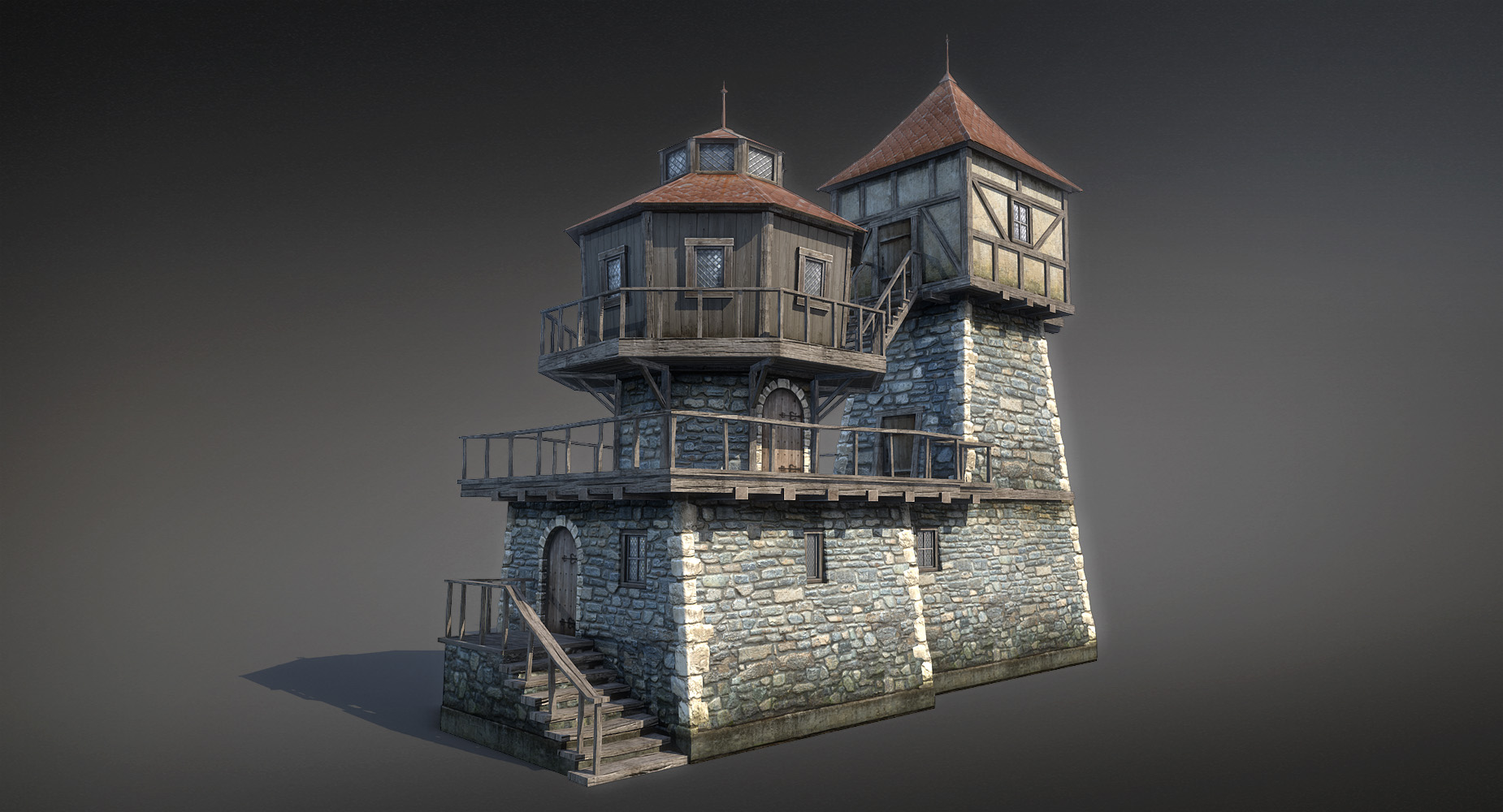 Fantasy House 04 3d Game Low Poly By Sergey Ryzhkov On