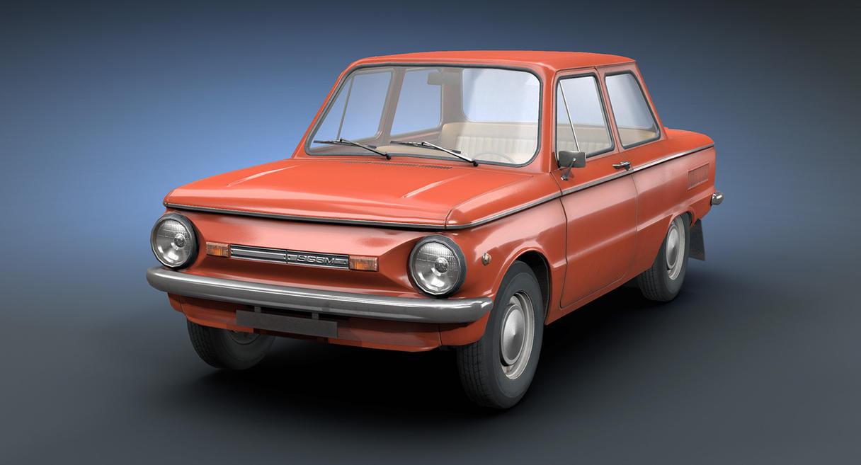 Retro Soviet Car ZAZ-968M (Game Low-Poly) by Sergey-Ryzhkov