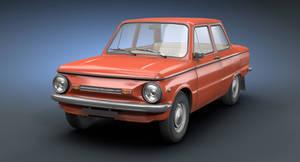 Retro Soviet Car ZAZ-968M (Game Low-Poly)